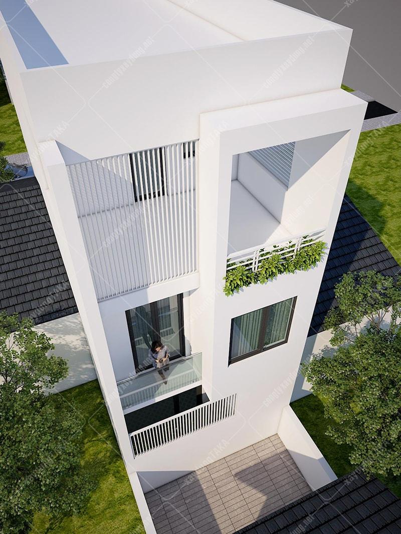Thiết kế nhà phố 2 mặt tiền 5x17m hiện đại