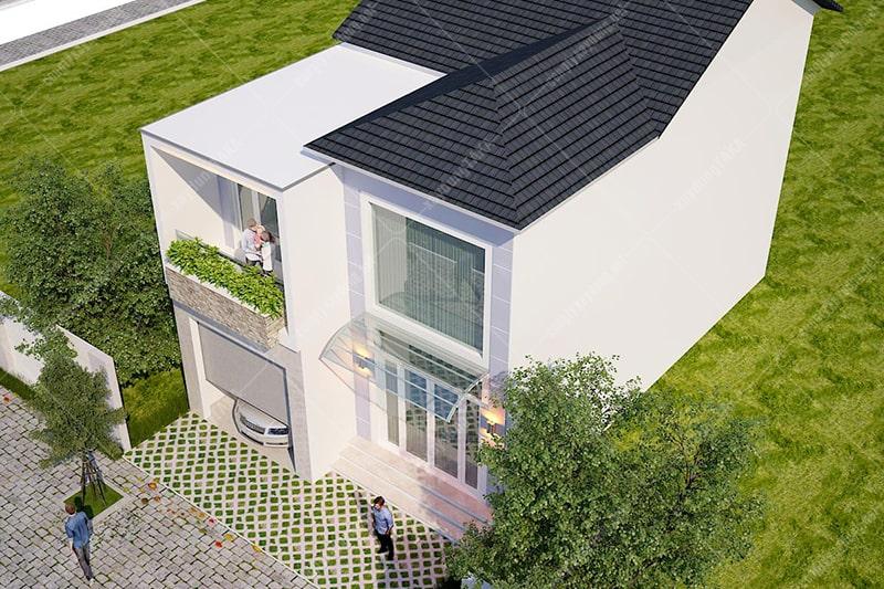 Thiết kế cải tạo biệt thự 1 trệt 1 lầu 8x12m