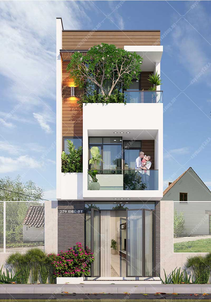 Mẫu thiết kế nhà phố 5x13 3 tầng hiện đại