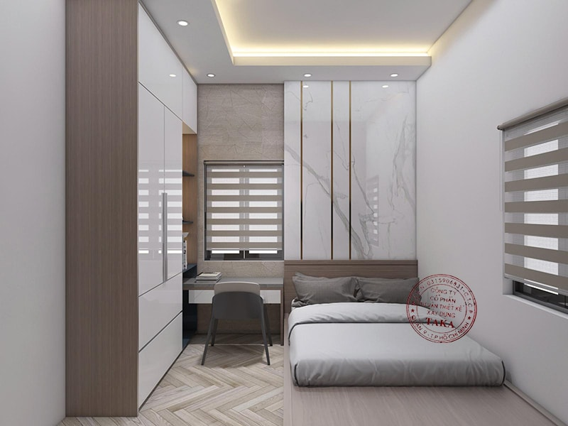 Thiết kế nội thất nhà phố 4x20 1 trệt 1 lầu