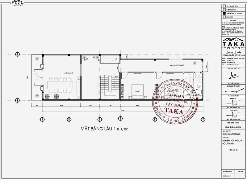 Bản vẽ mặt bằng nhà phố tân cổ điển kiểu âu sang trọng 6x12 m2