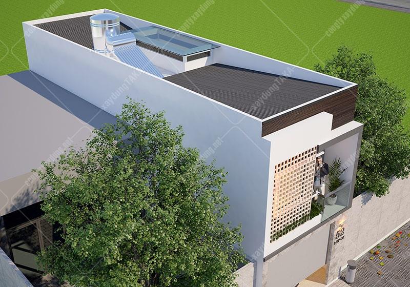 Thiết kế nhà phố 1 trệt 1 lầu 4m hiện đại