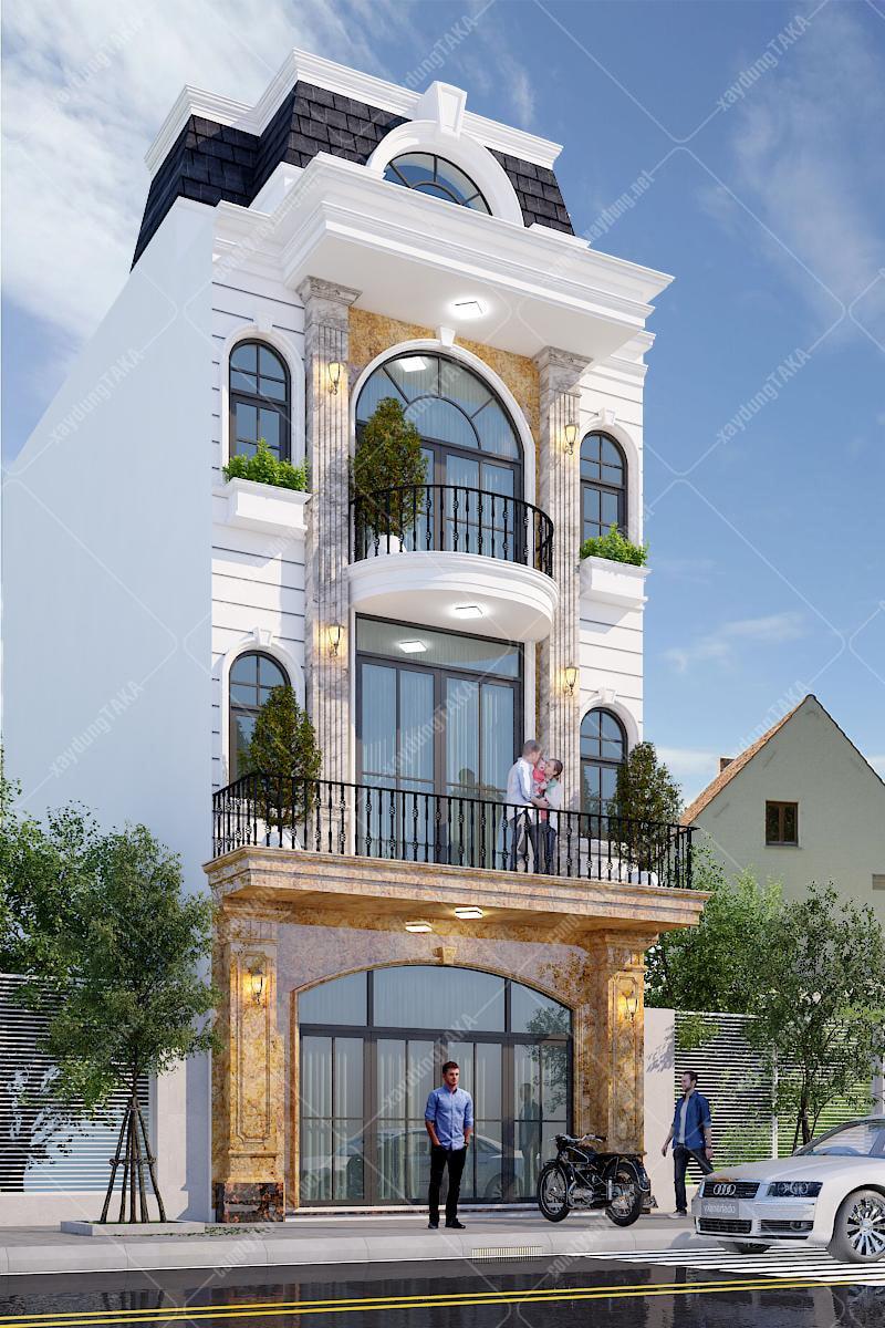Nhà phố tân cổ điển kiểu âu sang trọng 6x12 m2