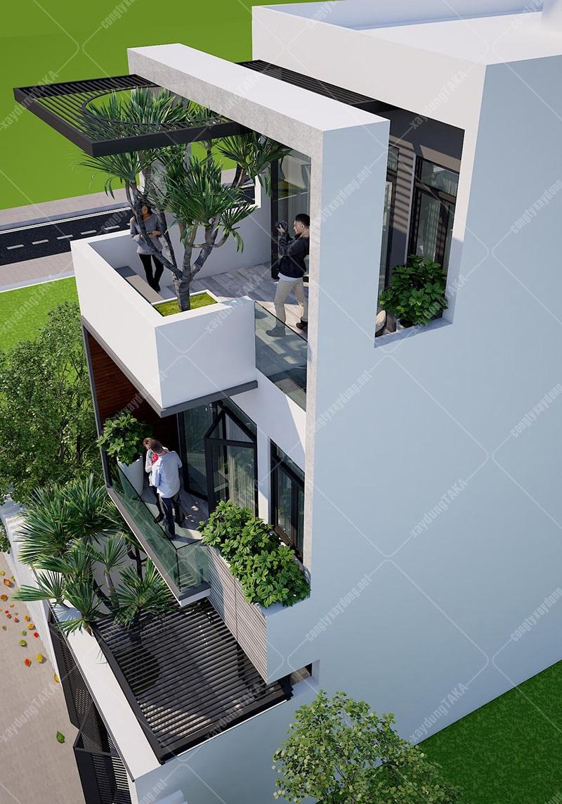 Nhà phố 3 tầng 5x16m 5 phòng ngủ