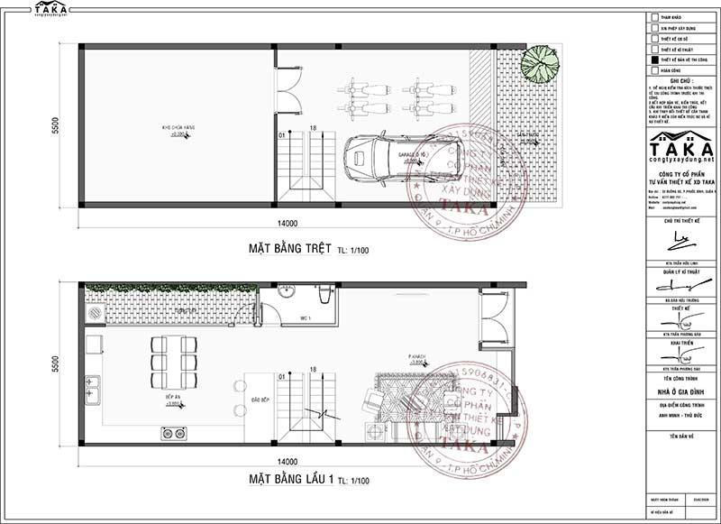 Nhà phố 4 tầng mặt tiền 5,5m dài 14m