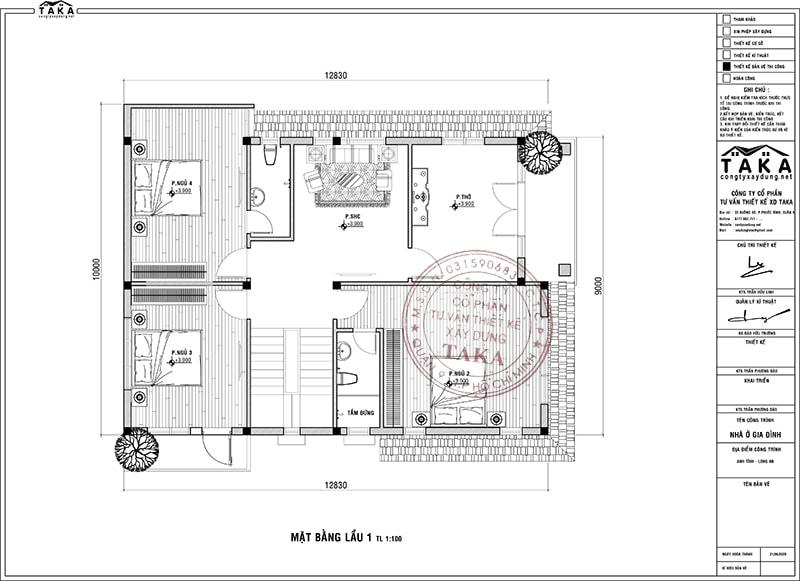 Biệt thự vườn 10x13m 1 trệt 1 lầu mái nhật hiện đại