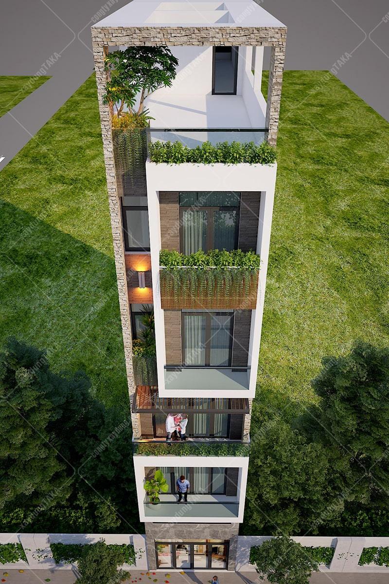 Thiết kế nhà phố 4x15 cho thuê trọ