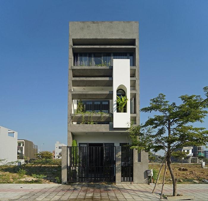Mẫu nhà phố 3 tầng 5x20 hiện đại hướng tây bắc