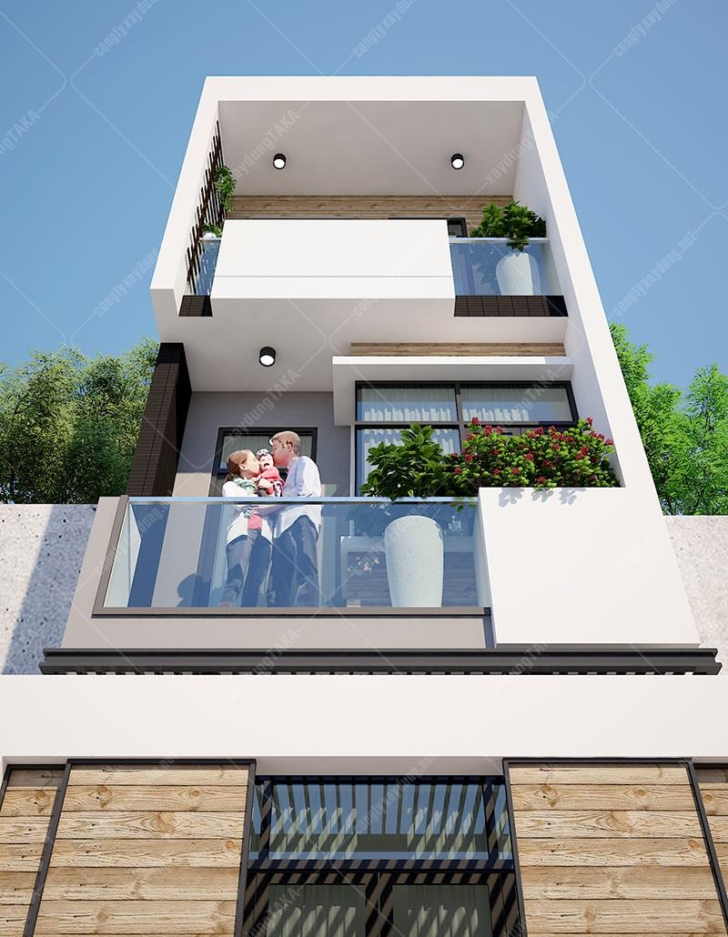 Thiết kế nhà phố 4x12 trên mảnh đất méo không vuông vắn