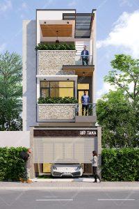 Mẫu thiết kế nhà phố ngang 5m dài 18m