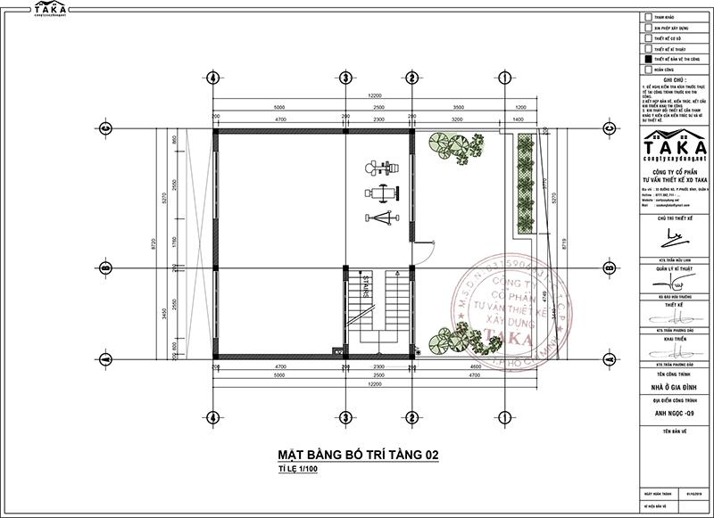Thiết kế biệt thự phố mặt tiền rộng 9m dài 12m hiện đại