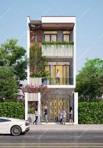 Nhà phố 3 tầng mặt tiền 5,5m dài 15m kết hợp văn phòng