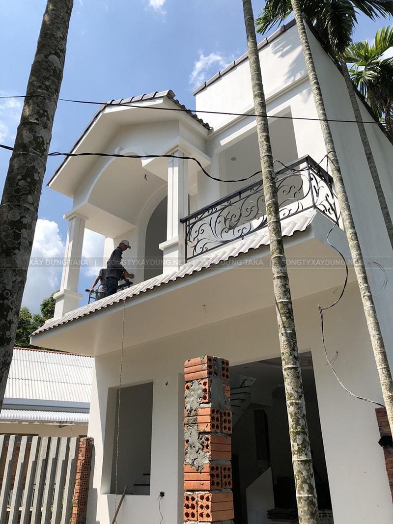 Thi công nhà 2 tầng chị Ngọc | Bình Dương
