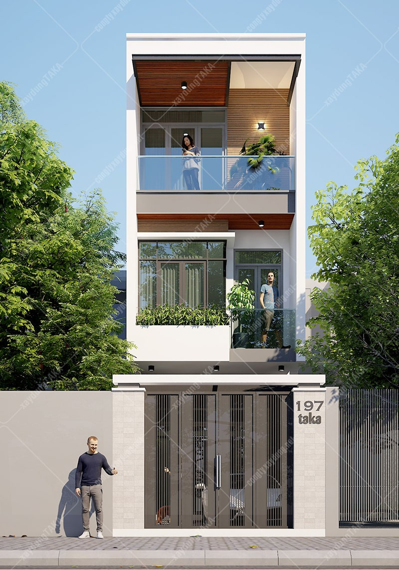 Nhà phố 3 tầng 4x14m