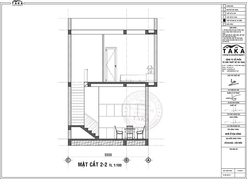 Bản vẽ mặt bằng nhà phố lô góc 2 mặt tiền 5x9m 1 trệt 1 lầu
