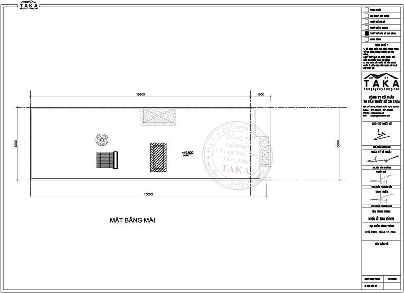 Thiết kế nhà phố mặt tiền 5,5m dài 17m 1 trệt 2 lầu