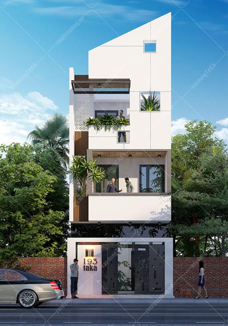Nhà phố 3 tầng 5x16m