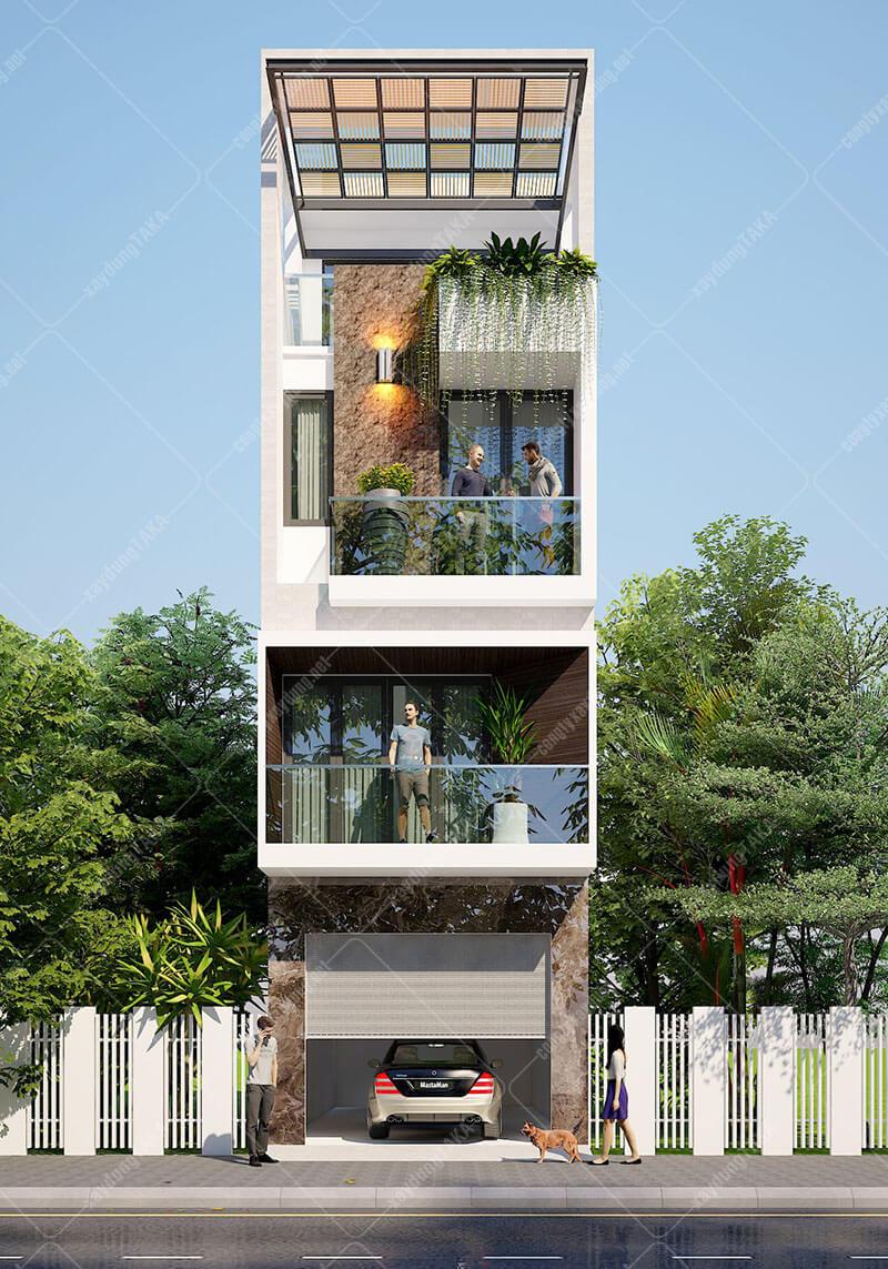 Mẫu thiết kế nhà phố 4x13m hiện đại