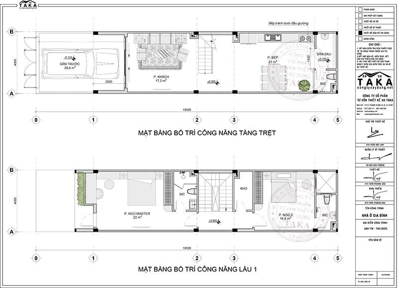 Nhà phố 4x16 hiện đại 3 tầng 4 phòng ngủ