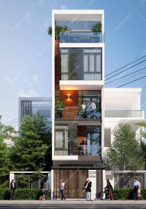 Mẫu thiết kế nhà phố 5 tầng 4x13m hiện đại