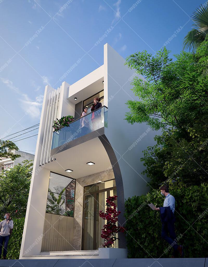 Nhà phố 1 trệt 1 lầu mặt tiền 4,5m dài 13m