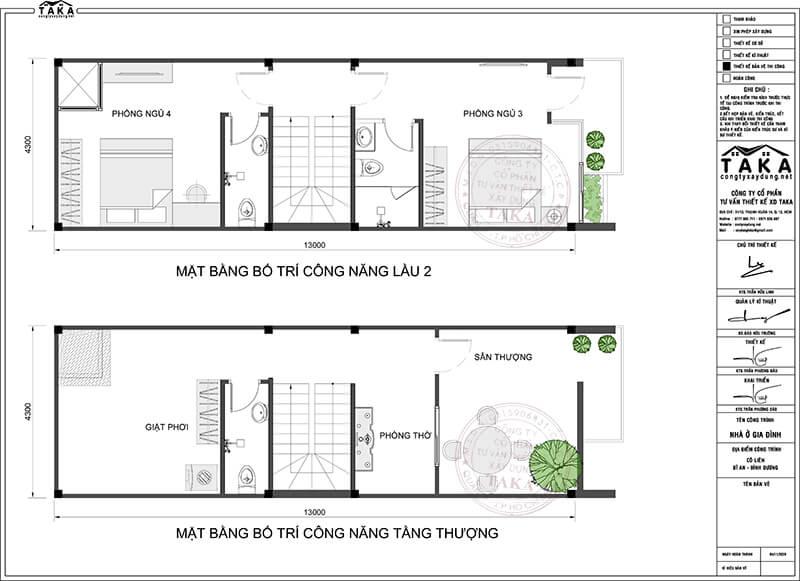 Thiết kế nhà phố 4x13 hiện đại 4 phòng ngủ