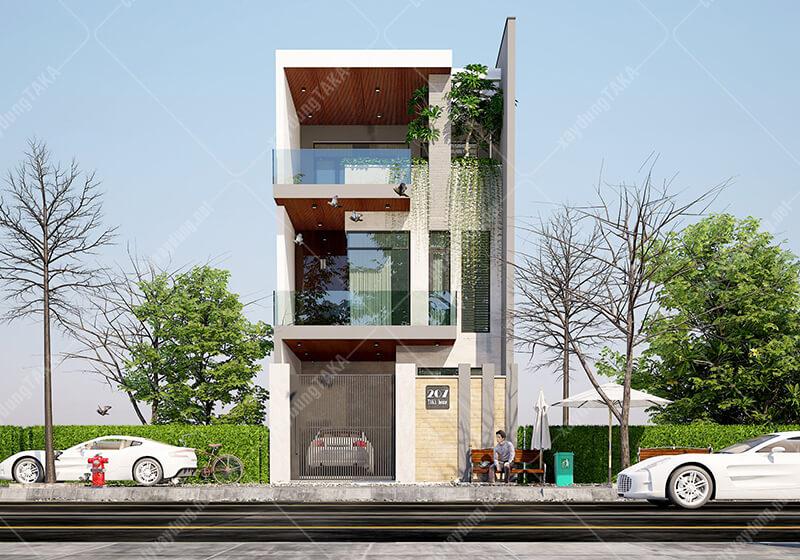 Thiết kế nhà phố 6x15 1 trệt 2 lầu