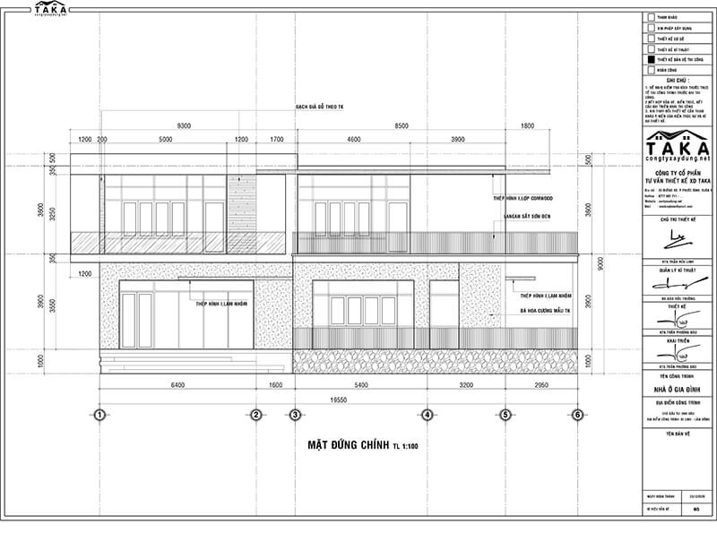 Thiết kế biệt thự 10x17 1 trệt 1 lầu hiện đại
