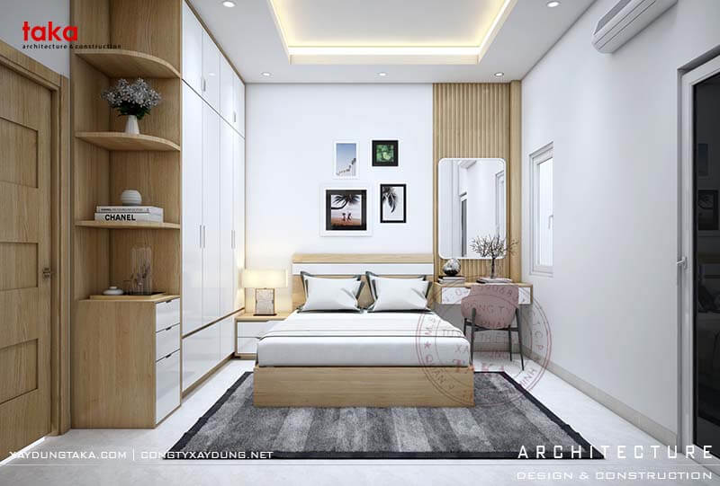 Mẫu nội thất nhà phố 3 tầng hiện đại 4x16
